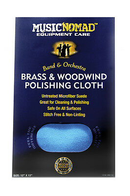 Music Nomad Microfiber Polishing Cloth for Brass and Woodwinds