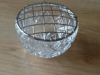 Cut Glass Rose Bowl
