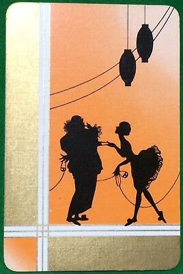 Playing Cards 1 Single Swap Card - Old Vintage BALLET GIRL Ball Mask CLOWN 2