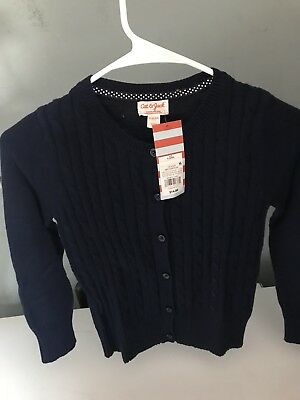 Cat & Jack Knitted Sweater School Navy Blue uniform Size S (6,6x)