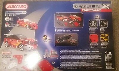 Meccano Turbo Remote Control Car Construction Kit. New In Box