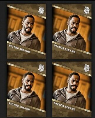 4x VICTOR STRAND-GOLD FAN'S CHOICE-TOPPS FEAR THE WALKING DEAD CARD TRADER
