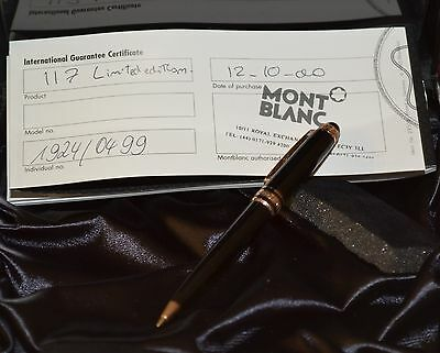 Authentic Montblanc 75Th Anniversary 117 Rose Gold Ltd Edition Pencil 0499/1924