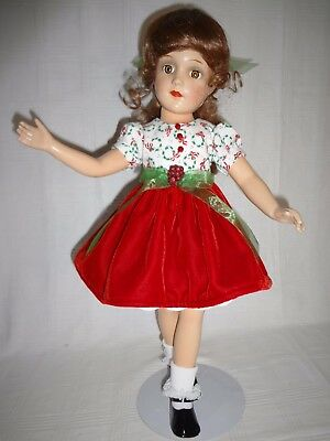 "18"" Vintage Composition Arranbee Debuteen Christmas Doll"