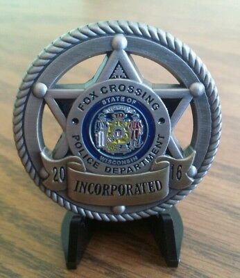Fox Crossing Town Of Menasha Wisconsin Police Wi Inaugural Challenge Coin!
