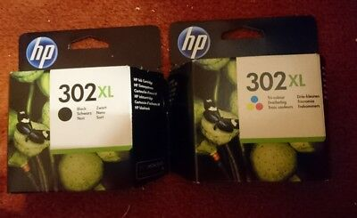 hp 302xl black and colour ink cartridges