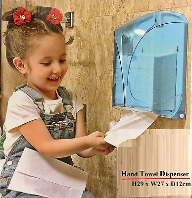 White Tissue Hand Towel Fold Paper Dispenser Plastic Kitchen Bathroom Wall Mount