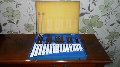 AMII 25 Note Xylophone. 2 Octave In Plastic Carry Case, G - G with Sharps.