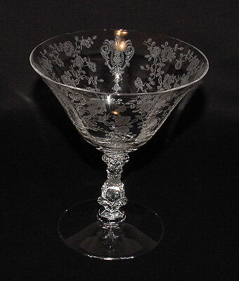 """PERFECT Vintage Cambridge """"ROSE POINT"""" #3121 Sherbet Goblet - 9 Available!!"""