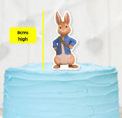 Peter Rabbit only XL stand up EDIBLE cupcake cake toppers stand up birthday