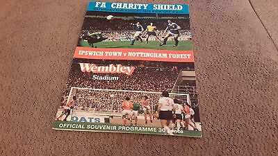 F.A.Charity Shield Ipswich Town v Nottingham Forest 12/08/1978