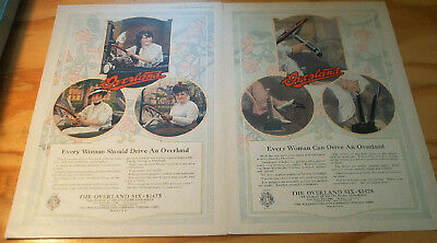 1915 Excel Double page WILLYS OVERLAND Auto ad Every Woman should drive