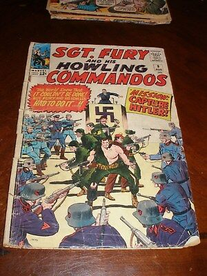 Sgt. Fury 9 Aug 1964 fair Silver age Marvel comic original owner