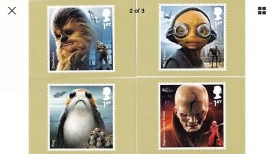 NEW 2017 STAR WARS NEW SEALED SET OF 8  PHQ CARDS. Phq 435 NEW ISSUE 12/10/2017.