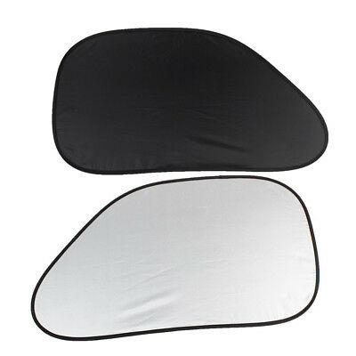 2pcs Auto Car Side Window Sunshade Black Silver Color Q8A6 T7W6