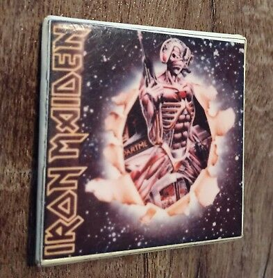 Iron Maiden Vintage Collectable Back Pin Iron Maiden Button