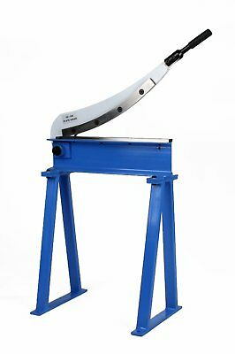 """Erie Tools® Guillotine Shear 20"""" x 16 Gauge Sheet Metal Plate Cutter with Stand"""