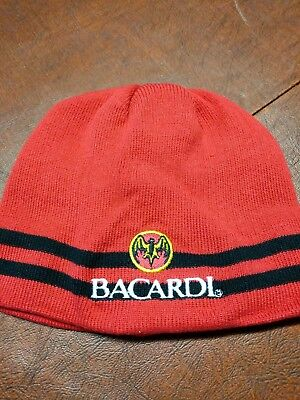 BACARDI RUM KNIT HAT *New Bar, Alchol, Liquor Beanie Cap