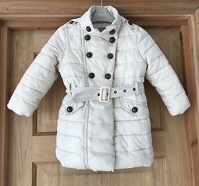NEXT **3-4y GIRLS Warm WINTER PADDED School COAT FLEECE LINED AGE 3 - 4 YEARS