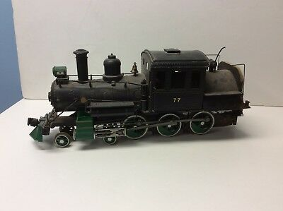 G SCALE Model Trains:  #77  STEAM CAMELBACK LOCO ENGINE - USED - Needs Repairs