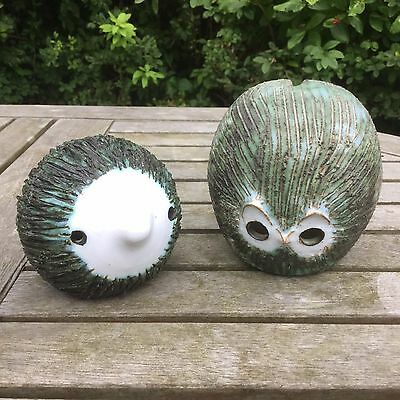 2 Vintage Briglin Hedgehogs, 1 Money Box