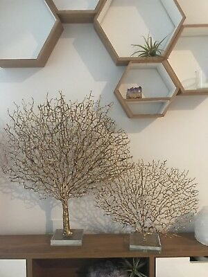 Pottery Barn set Of Two (large & Small)  Sea Fan (sold Out MSRP $145)
