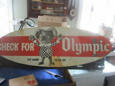 Olympic Tyre Metal Sign - old sign- not a copy