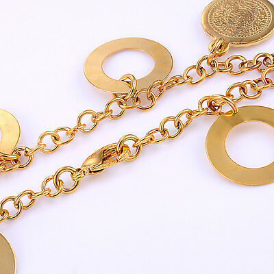 Classic Baby 18K Yellow Gold Plated Cion Party Chain Link Bracelet