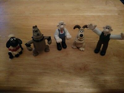 Wallace & Gromit PVC Lot of 7 Figures 2 1/2 inch on average