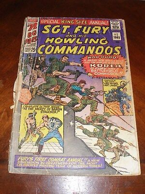 Sgt. Fury Annual 1 1965 Silver age Marvel comic original owner