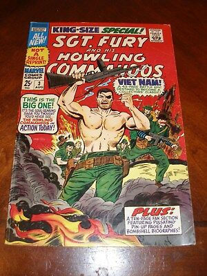 Sgt. Fury Annual 3 1967 fvf Silver age Marvel comic original owner