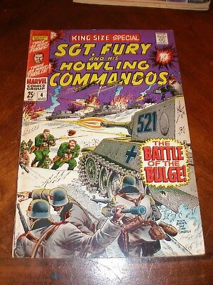 Sgt. Fury Annual 4 1968 vfnm silver age Marvel comic original owner