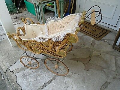 Antique Victorian Baby Carriage, Stroller, Buggy Very Ornate