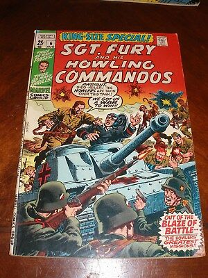Sgt. Fury Annual 6 1970 vf Bronze age Marvel comic original owner