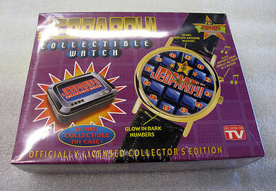 JEOPARDY WATCH Collectible Tin case • Musical • Glow in Dark • Authentic • NEW!