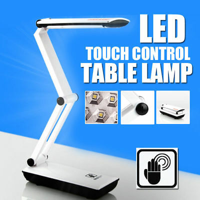 22 LED Foldable Desk Table Lamp Rechargeable Light Reading Touch Control Folding
