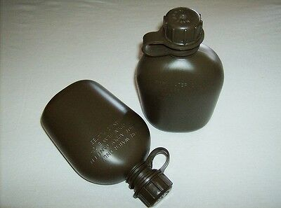 USA made military BPA free 1 quart canteen bottle olive drab green 2 pack new
