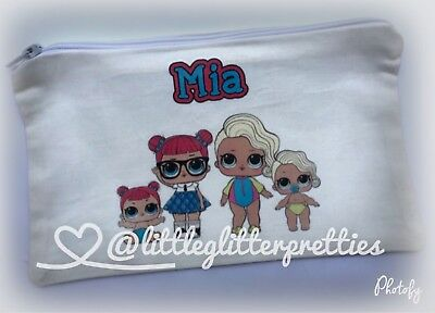 LOL Surprise Doll Personalised Pencil Case / Storage Bag (Choose your LOL's)