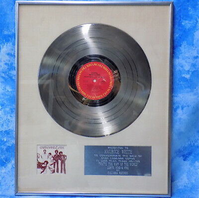 To Maurice White Earth Wind & Fire Platinum sales award