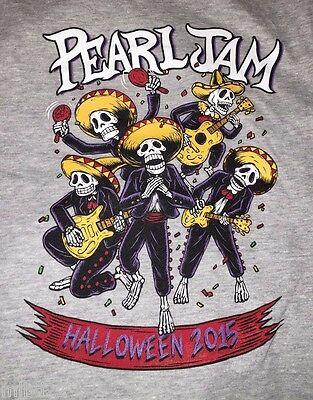 PEARL JAM - Halloween 2015 T-SHIRT Size XXL ten club 10c WOW lightning bolt 2xl