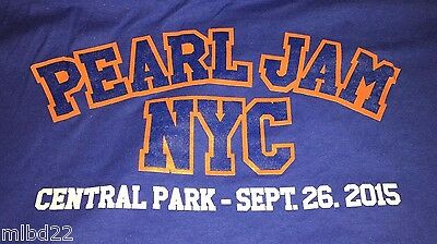 PEARL JAM - New York T-SHIRT Size XXL - Sept 26 2015 WOW mets ny gcf nyc msg