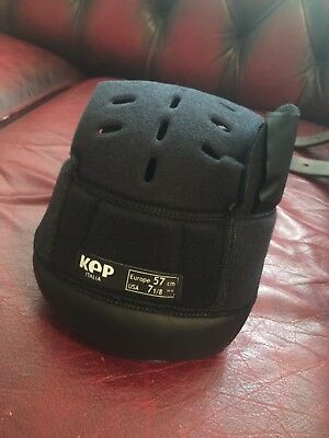 Nearly New KEP Italia Hat Helmet Replacement Inner Liner Size 57cm Black Tab