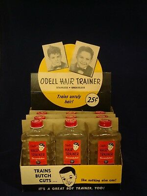Vintage ODELL HAIR TRAINER - TONIC COUNTER TOP DISPLAY