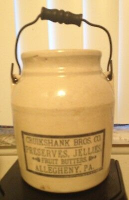 Antique Red Wing Stoneware Advertising Cruikshank Bros Co Allegheny Pa Crock