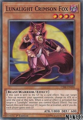 Yugioh - 3x Lunalight Crimson Fox CIBR-EN090 Common - 1st Ed - NM/M