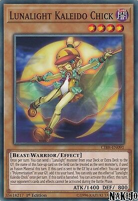 Yugioh - 3x Lunalight Kaleido Chick CIBR-EN091 Common - 1st Ed - NM/M
