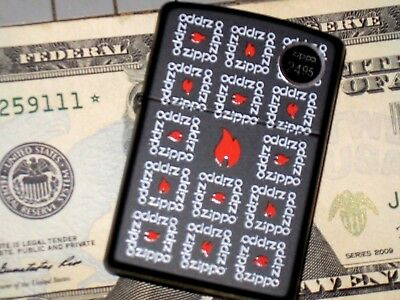 NEW Genuine ZIPPO USA Windproof American Made Oil Lighter Squares Surround Flame