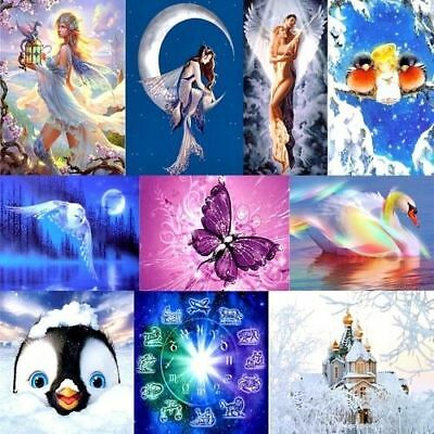 DIY 5D Diamond Painting Animals Embroidery Cross Crafts Stitch Kit Home Decor