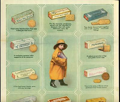 1919 colorful NABISCO National Biscuit Company products Ad