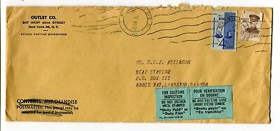 Canada / USA 1962 Incoming to RCAF Station Labrador - Customs Inspection Label